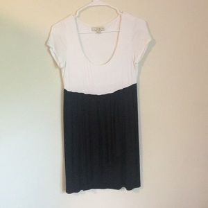 Black and white blocked dress, small